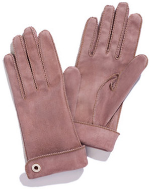Loro Piana Jacqueline Classic Suede Women's Gloves in Lined Cashmere and Silk: €510.