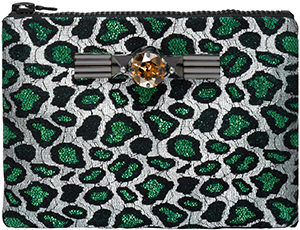 Mawi Green Leopard Women's Clutch Bag: £525.