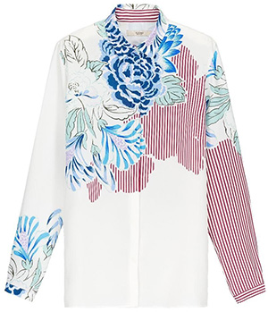 Etro women's crisp white printed shirt: €535.