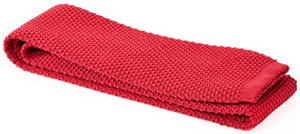 Loriblu Ruby red knitted silk tie: €54.