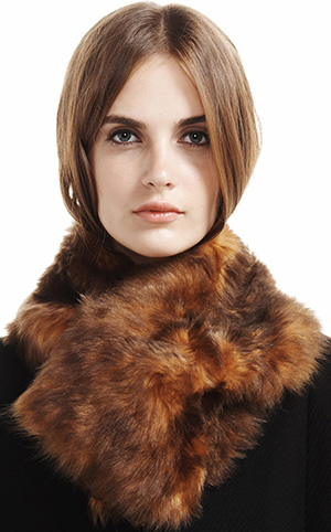 Etienne Aigner Brown Fur Collar: US$545.