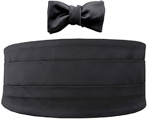 Le Noeud Papillon The Black Majestic Bow Tie And Cummerbund Set: US$550.