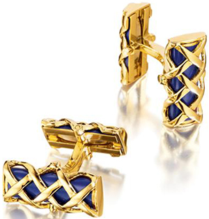 Verdura Criss-Cross Cufflinks: US$5,500.