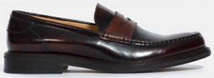 Façonnable bi-leather penny loafer: US$575.