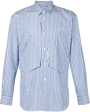 Comme des Garçons multi pocket striped men's shirt: US$595.