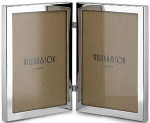 William & Son Sterling Silver Double Photo Frame: £595.