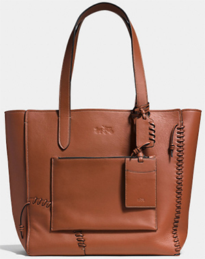 Coach RIP and repair manhattan men's tote in leather: US$595.