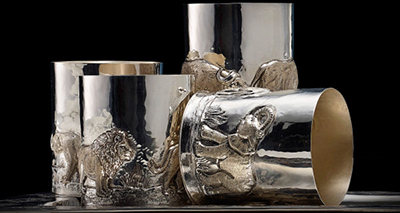 Stefano Ricci Big Five Sterling Silver Glasses.