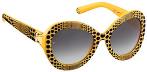 Yayoi Kusama for Louis Vuitton Monogram Waves Oversize Yellow Sunglasses: US$610.