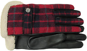 Forzieri DSquared2 Wool, Leather and Shearling Men's Gloves w/Cashmere Lining.