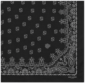 Saint Laurent Bandana Square Scarf in Black: US$645.