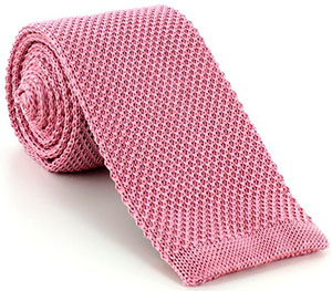 Mark Powell Pink Silk Knit Tie: £65.