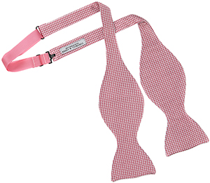 343002d5b1d4 TOMMY HILFIGER · TRAFALGAR · Turnbull & Asser silk houndstooth bow tie in  pink and white: ...