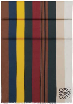 Loewe Meccano Stripes Scarf 70x200 Multicolour: US$690.
