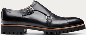 Bally Porthos Men's Black Leather Double Monstrap Shoe: US$695.