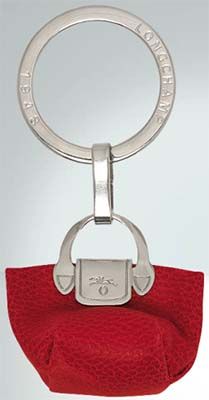 Longchamp Le Foulonné Key Ring: US$70.