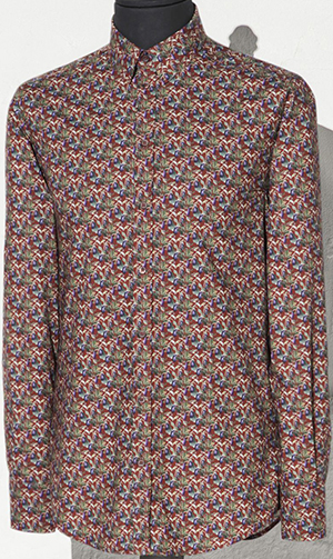 Dolce&Gabbana Eggplant Print Gold Fit Men's Shirt: US$745.