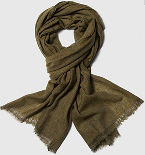 OwnOnly Olive Green Cashmere Scarf: US$79.
