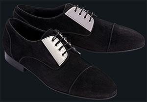 Louis Leeman Suede Oxford with Metal men's shoes: US$795.
