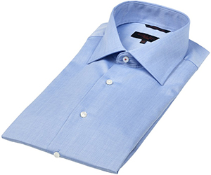 Seven Seas Classic Light Blue Men's Shirt Plain Colour: €65.