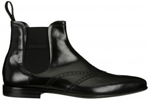 Cesare Paciotti Beatles-style ankle boot in shiny black calfskin: US$832.