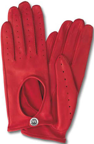 Bentley Dents Ladies Leather Cabretta Red Gloves.