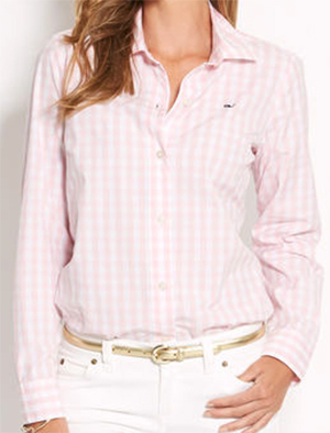 Vineyard Vines Medium Gingham Women's Shirt: US$88.