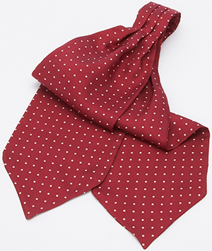 J.Press Polka Dot Ascot - Burgundy/White: US$89.