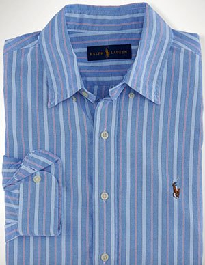 Polo Ralph Lauren Multi-Striped Oxford Men's Shirt: US$89.50.
