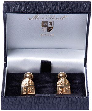 Mark Powell MP Cufflinks Gold Plated: £90.