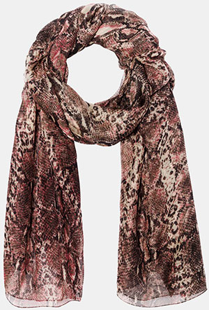 The Kooples Python Print Scarf: £94.50.