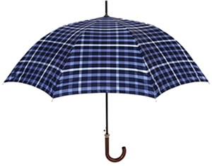 Daks Check umbrella features a wooden handle and measures at 36 inches long when closed and has a diameter of 43 inches when opened: £95.