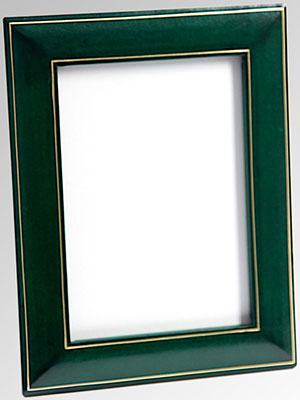 T.Anthony green 4 × 6 leather photo frame: US$95.