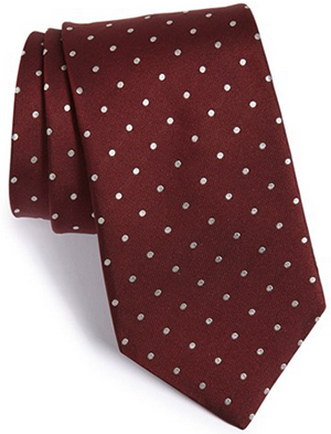 John Varvatos Dot Silk Tie: US$95.