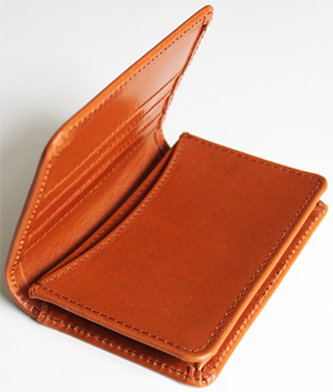 Richard Anderson Leather Card Wallet - Tan Bridle: £120.