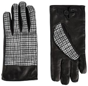 Jaeger Men's Heritage Check Gloves: £99.