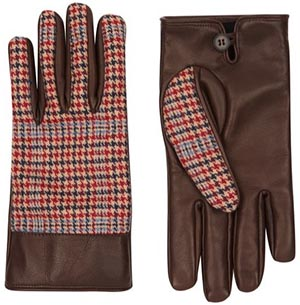 Jaeger Women's Heritage Check Gloves: £99.