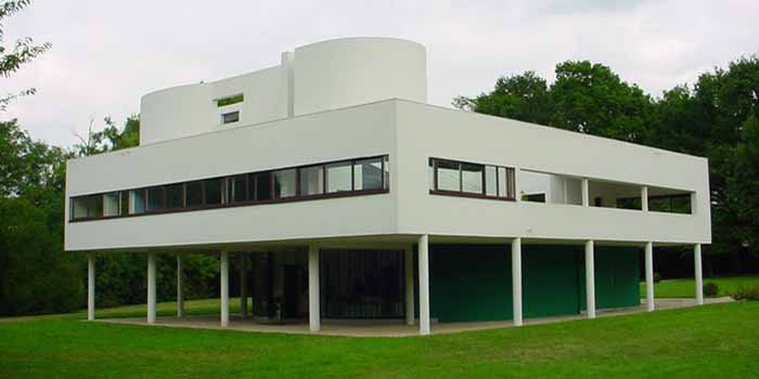 Villa Savoye, 82 Rue de Villiers, F-78300 Poissy, France. Designed by Le Corbusier (1931).