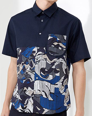 Kenzo Abstract Stripes men's shirt: €180.