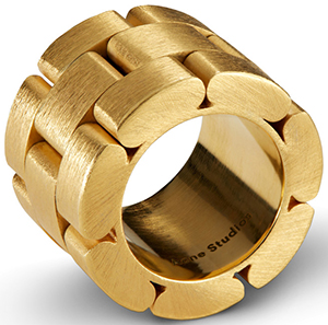 Acne Studios Elisa gold is a metal watch strap ring: US$320.