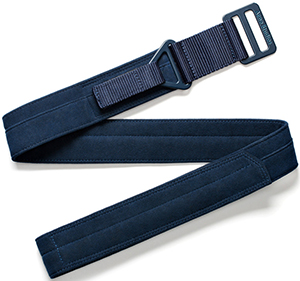 Acne Studios Agat velours navy men's belt: US$190.