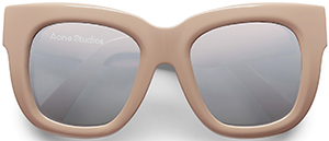 Acne Studios Library make up/silver women's sunglasses: US$340.