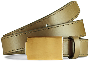 Acne Studios Lastic waist olive green women's belt: US$350.