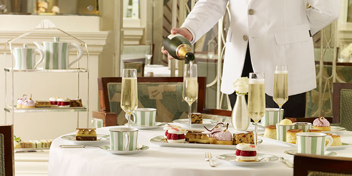 Afternoon tea at Claridge's, Brook Street, Mayfair, London W1K 4HR, England, U.K.