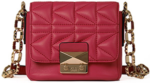 Karl Lagerfeld women's red handbag.