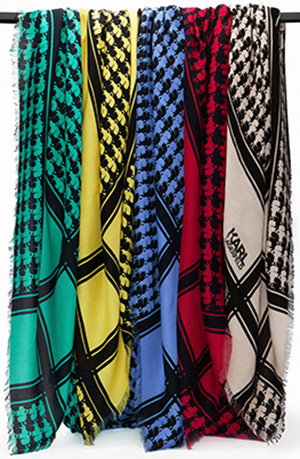 Karl Lagerfeld women's scarves.
