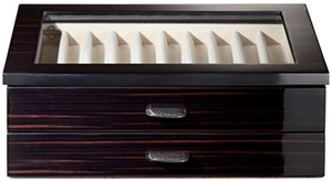 Agresti Polished Ebony Wood Pen Box: US$1,144.