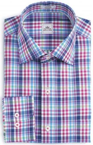 Peter Millar Queens Oxford Plaid Sport Shirt: US$148.
