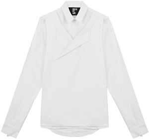 Hood By Air Button down men's shirt cut in 100% Cotton with Blazer Front detailing, and concealed magnetic closures: US$516.