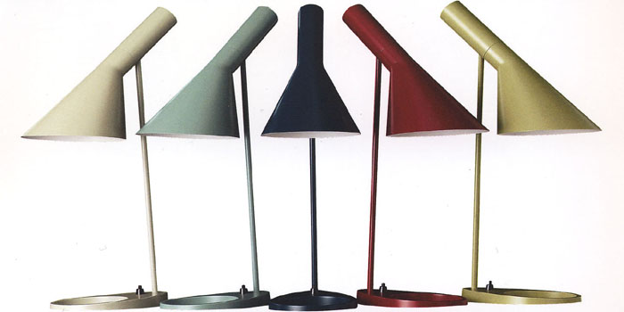 AJ Table Lamps Designed By Arne Jacobsen.